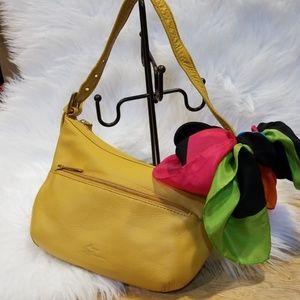 Stone Mountain | Mustard leather bag